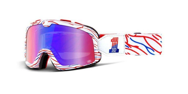 Okuliare Barstow Death Sprays Custom (červené/modré zrkadlové plexi)