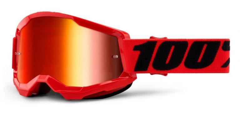 okuliare Strata 2 100% USA, (zrkadlové červené plexi)