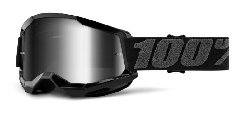 okuliare Strata 2 100% USA, (zrkadlové strieborné plexi)
