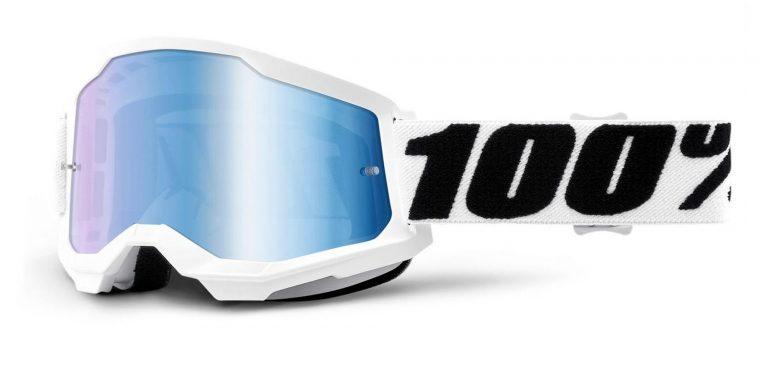 okuliare Strata 2 100% USA, (zrkadlové modré plexi)